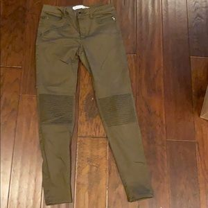 Zara army green jeans